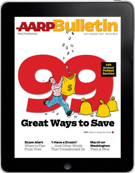 AARP Bulletin, Cover, July-August 2013