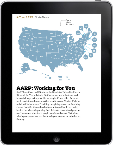 AARP Bulletin, State News landing page, July-August 2013