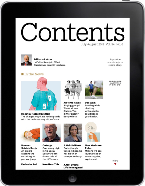 AARP Bulletin, Table of Contents, July-August 2013