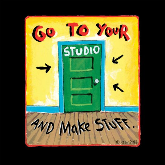 "Fred Babb ""Go to Your Studio"" 11 x 14 Art Print"