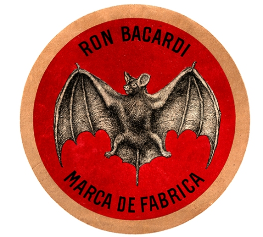 1931: While this Bat Device never appeared on BACARDÍ bottles or labels, it was used as a variation of the 1900 Bat Device. It was used in the 150th anniversary BACARDÍ brand logo.