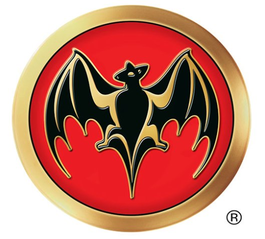 2002: This 3D bat logo appeared on BACARDÍ bottles and labels from 2002 to 2005.