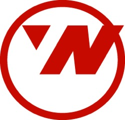 Northwest Airlines. The circle is a compass. The arrow in the upper left corner is pointing..? North West of course!