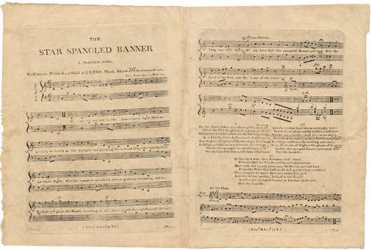 "Only about a dozen copies of the original 1814 sheet music imprint of Francis Scott Key's ""The Star-Spangled Banner"" have survived. The original edition can be easily identified by the misprint ""A Pariotic Song"" in its subtitle. Courtesy of the William L. Clements Library, University of Michigan"