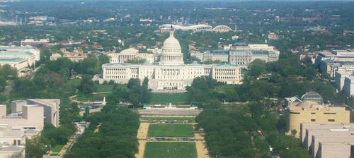 The United States Capitol is at the east end of the National Mall and Memorial Parks. (Creative Commons Photo courtesy of Tyrol5)