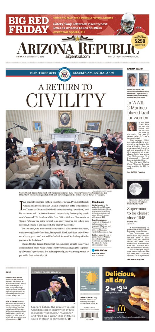 Arizona Republic, Nov. 11, 2016