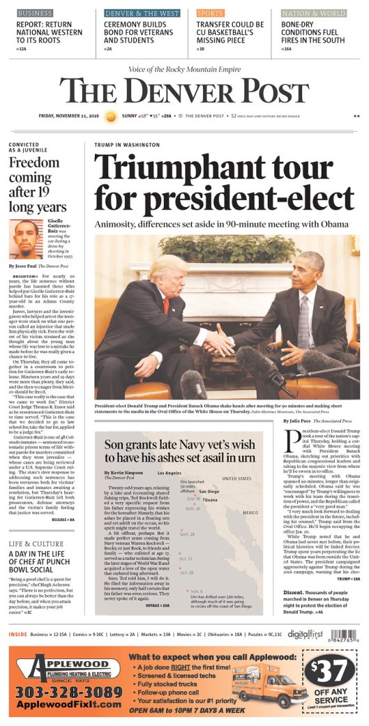 The Denver Post, Nov. 11, 2016