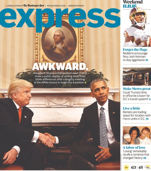 Express, published by The Washington Post, Nov. 11, 2016