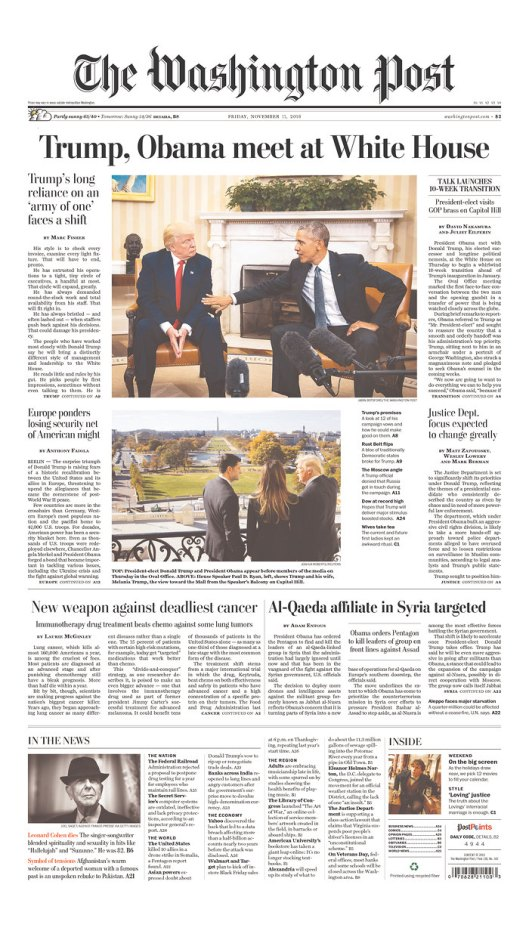 The Washington Post, Nov. 11, 2016