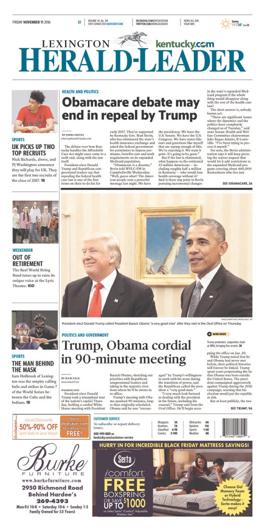 Lexington Herald-Leader, Nov. 11, 2016