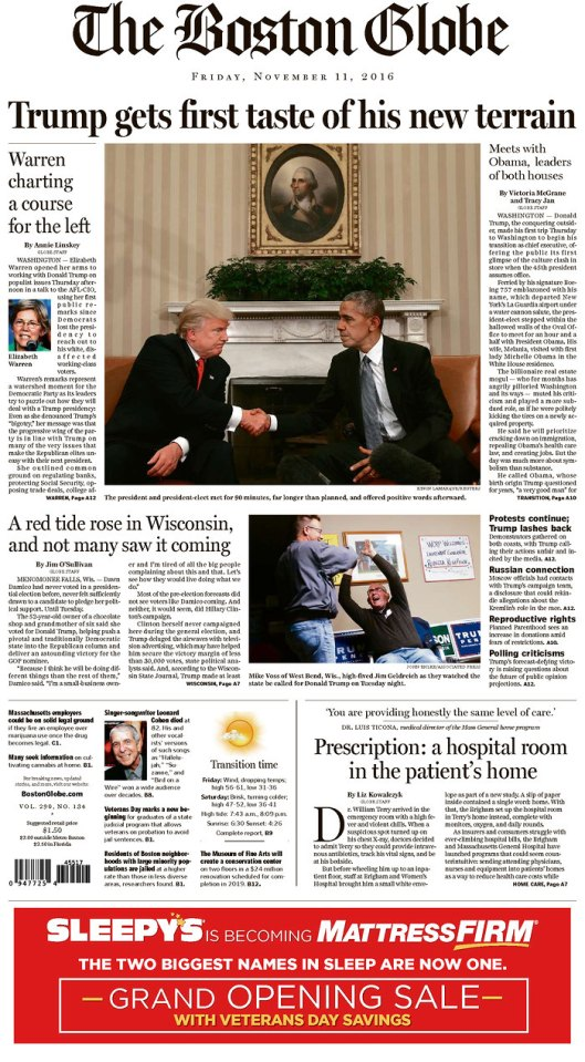 The Boston Globe, Nov. 11, 2016
