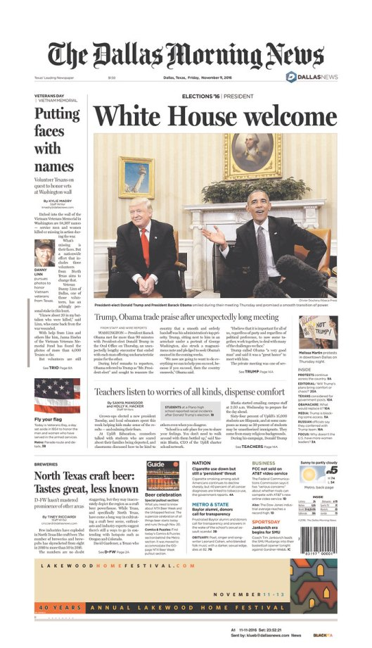 The Dallas Morning News, Nov. 11, 2016