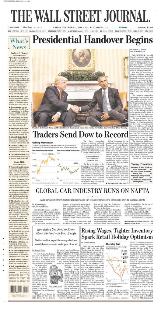 The Wall Street Journal, Nov. 11, 2016